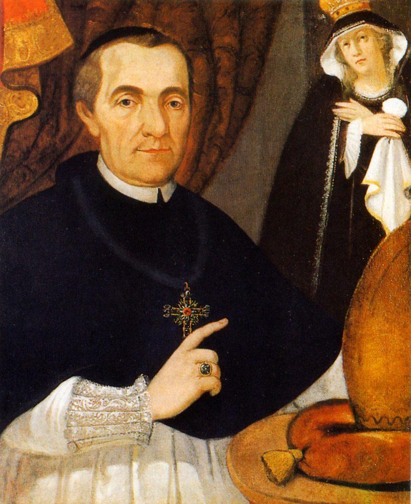 Der gottselige Abt Maurus Xaverius Herbst OSB mit der von ihm verehrten schmerzhaften Mutter.